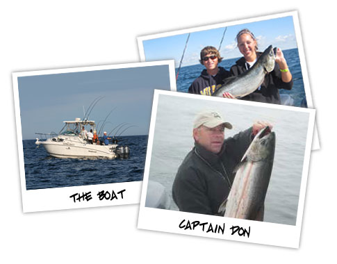 The Boat - Captain Don, King Salmon fishing on Lake Michigan